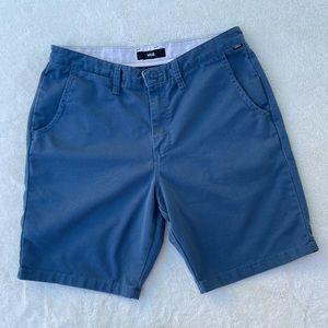 Vans Men's Flat Front Chino Shorts Blue sz 34
